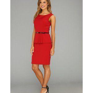 Ellen Tracy ~ Red Ruffled Dress ~ Size 4